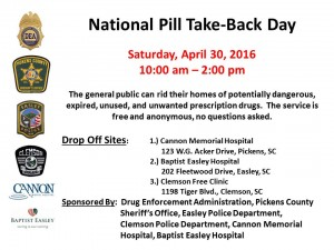 Pill Take Back April 2016